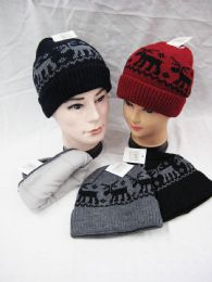 36 Units of Cozy Winter Christmas Theme Hat - Winter Beanie Hats