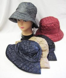 36 Units of Womens Quilted Bucket Hat - Bucket Hats