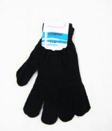 36 Units of Unisex Winter Knit Classic Solid Color Gloves - Winter Gloves