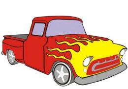 50 Units of Medium Pick Up Truck Sand Painting Card - Arts & Crafts