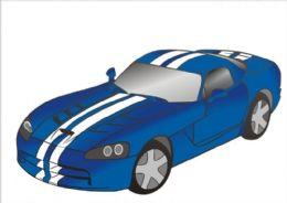 50 Units of Medium Viper Car Sand Painting Card - Arts & Crafts
