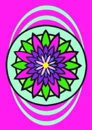 50 Units of Medium Mandala Sand Painting Card - Arts & Crafts