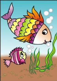 50 Units of Medium Fish Sand Painting Card - Arts & Crafts