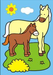 50 Units of Medium Horses Sand Painting Card - Arts & Crafts