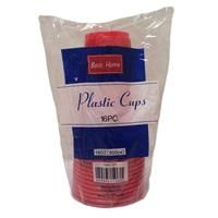 48 Units of Plastic Cups Solid Red 16 Ounce - Disposable Cups