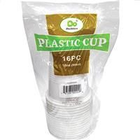48 Units of Plastic Cups White 16 Ounce - Disposable Cups