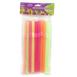 24 Units of 25 PACK MILKSHAKE STRAWS - Straws and Stirrers