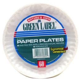 20 Units of Green Label White Paper Plate 6 Inch - Disposable Plates & Bowls