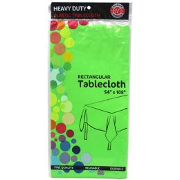 48 Units of Green Plastic Tablecover Rectangle - Party Paper Goods