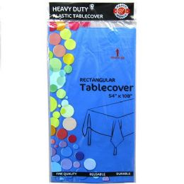 48 Units of Royal Blue Plastic Tablecover Rectangle - Party Paper Goods