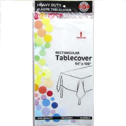 48 Units of Clear Plastic Tablecover Rectangle - Party Paper Goods