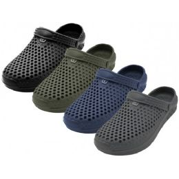 "36 Units of Men's ""Real"" Soft Comfortable Hollow Shoes ( *Asst. Black, Navy, Gray & Olive ) - Men's Flip Flops and Sandals"
