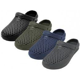 "36 Units of Men's ""real"" Soft Comfortable Hollow Shoes ( *asst. Black, Navy, Gray & Olive ) - Men's Flip Flops and Sandals"