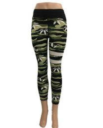 24 Units of Yoga Pants Legging Marijuana Leaf Thigh Stripes - Womens Leggings