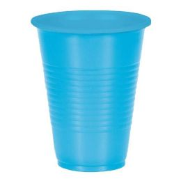 48 Units of 10 Count Plastic Cups Blue - Disposable Cups