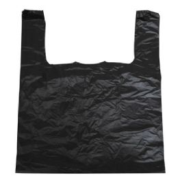300 Units of Black Jumbo T-Shirt Bags 17x7x30 Inches - Bags Of All Types