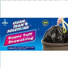 24 Units of Super Tuff Drawstring Trash Bag 26 Gallon - Garbage & Storage Bags