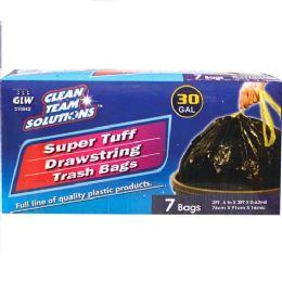 24 Units of Super Tuff Drawstring Trash Bags 30 Gallon - Garbage & Storage Bags
