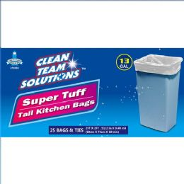 24 Units of Super Tuff Tall Kitchen Bags 13 Gallon - Garbage & Storage Bags