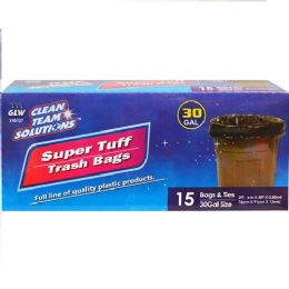 24 Units of Super Tuff Trash Bags 30 Gallon - Garbage & Storage Bags