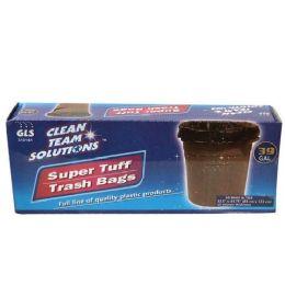 24 Units of Super Tuff Trash Bags 39 Gallon Twist Tie - Garbage & Storage Bags