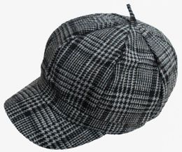 36 Units of Plaid Apple Jack Hat - Fedoras, Driver Caps & Visor