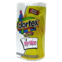 24 Units of Colortex My Size 2 Ply Paper Towel 140 Sheets - Napkin and Paper Towel Holders