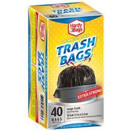 6 Units of 30 Gallon Drawstring Bag Black - Garbage & Storage Bags