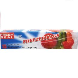 24 Units of Fresh Seal Gallon Freezer Bag Ziploc - Food Storage Containers