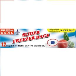 24 Units of 12 Count Fresh Seal Slider Bags Quart Freezer - Food Storage Containers