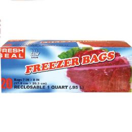 24 Units of Fresh Seal Gallon Storage Bag Ziploc - Food Storage Containers