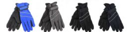 72 Units of Boys Water Resistant Fleece Lined Ski Glove - Ski Gloves