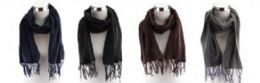 72 Units of Adults Solid Color Fleece Scarfs - Winter Scarves