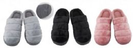 36 Units of Women's Plush Super Soft House Slipper - Women's Slippers