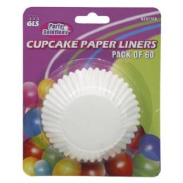 60 Units of Cup Cake Papers - Baking Supplies