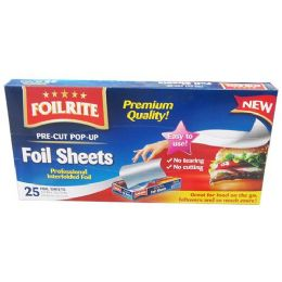36 Units of 25 COUNT FOIL SHEETS POP UP - Food Storage Containers