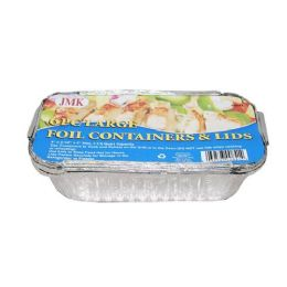 24 Units of 4 Piece Large Foil Containers And Lids - Aluminum Pans