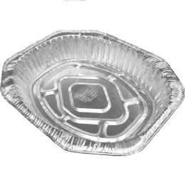100 Units of Oval Roaster Pan Large Foil No Label - Aluminum Pans