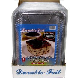 20 Units of Foil Cake Pan With Lid - Aluminum Pans