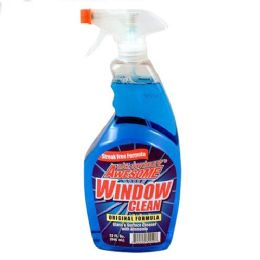 12 Units of Awesome Window Cleaner With Ammonia Trigger 32 Ounce - Cleaning Supplies