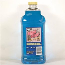 8 Units of Blue Glass Cleaner With Ammonia Refill 64 Ounce - Cleaning Supplies