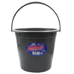 36 Units of Plastic Bucket With Handle - Cleaning Supplies