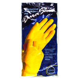 120 Units of Duraskin Yellow Latex Glove Large Playtex - Kitchen Gloves