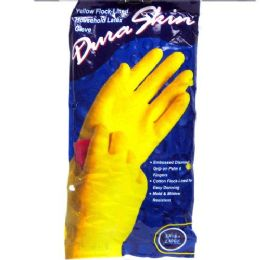 120 Units of Duraskin Yellow Latex Glove Xlarge Playtex - Kitchen Gloves