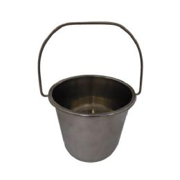 12 Units of 2 Gallon Stainless Steel Bucket - Cleaning Supplies