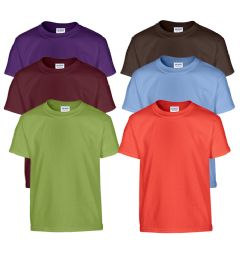72 Units of MILL GRADED GILDAN IRREGULAR YOUTH 5.3 OZ. SHORT SLEEVES TEES IN ASSORTED COLORS - Boys T Shirts