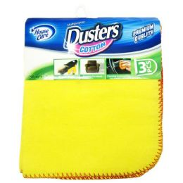 72 Units of 3 Pack Yellow Dusters - Dusters