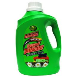 4 Units of Awesome 3x Laundry Detergent 64 Loads Rain Fresh 100 Ounces - Laundry Detergent