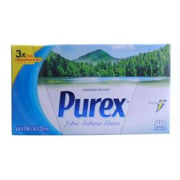 9 Units of Purex HE Dryer Sheets Mountain Freeze 40 Count - Laundry Detergent