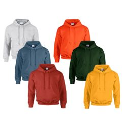 24 Units of MILL NON GRADED GILDAN IRREGULAR 2NDS IRREGULAR HOODED SWEATSHIRT - Mens Sweat Shirt